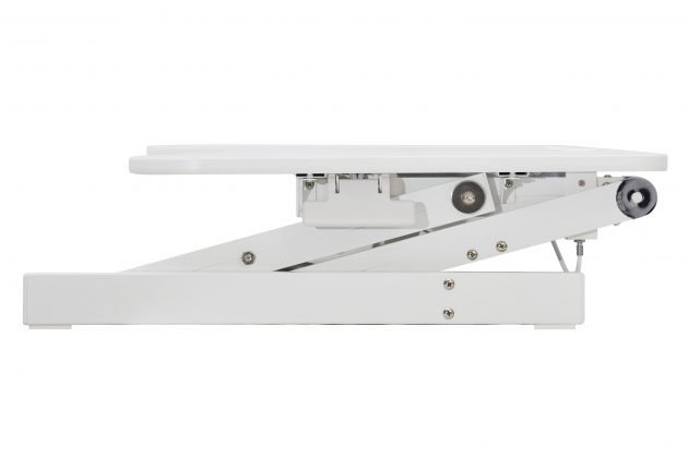 sit stand desk riser white