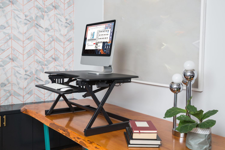Rocelco Eadr Sit Stand Desk Riser
