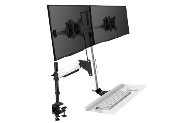 sit to stand workstation tray